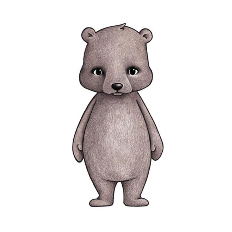 Tier-Wandsticker 'Bär' handgezeichnet