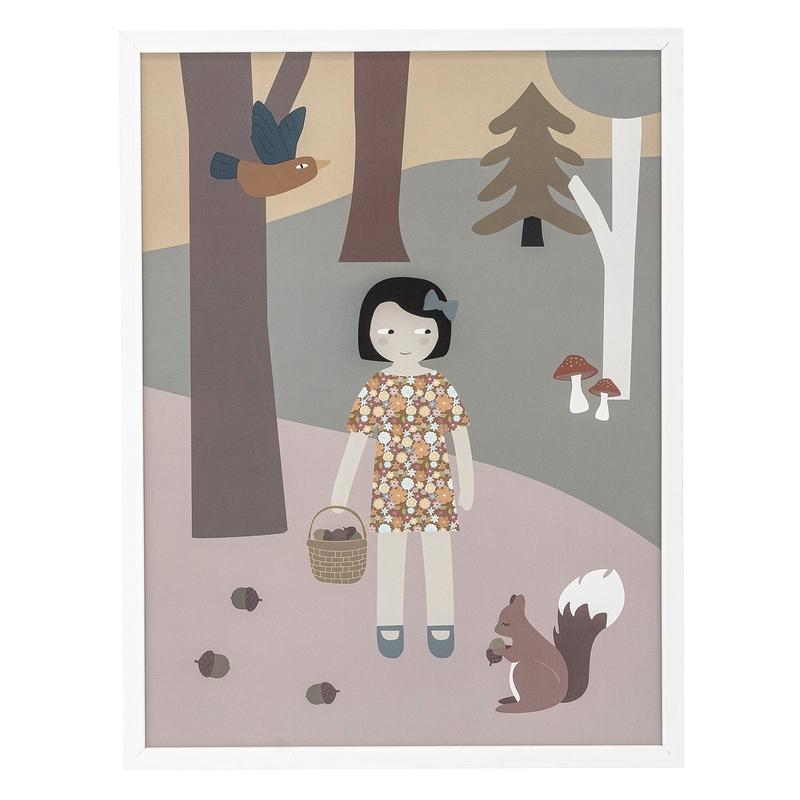 Kinderzimmerbild 'Mädchen' 32x42cm