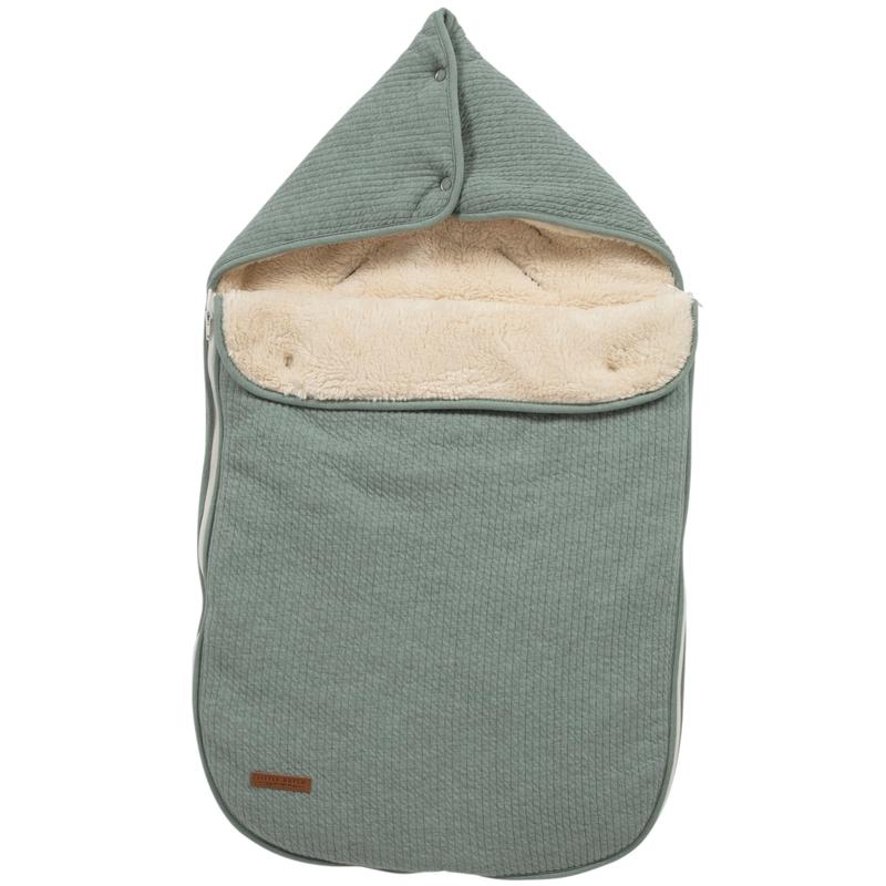 Baby-Fußsack 'Pure' jade Jersey/Teddy