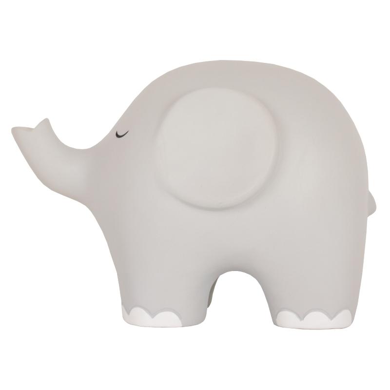 Nachtlicht 'Elefant' LED grau ca. 17cm