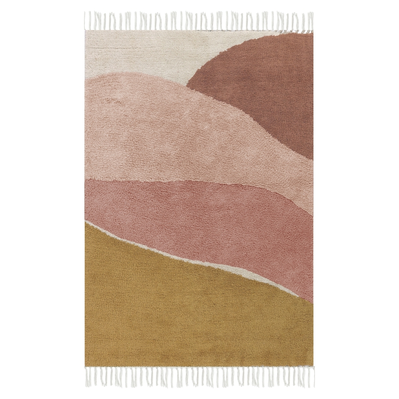 Teppich 'Horizon' altrosa/ocker 90x130cm