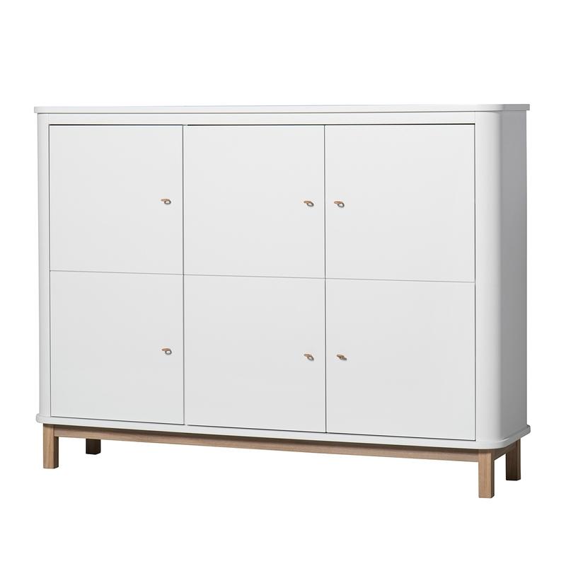 Multischrank 'Wood' Eiche/weiß 3-türig