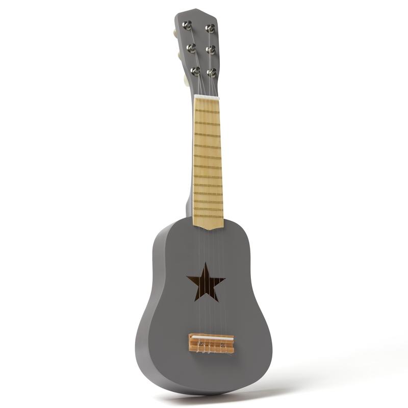 Kindergitarre aus Holz grau 53cm ab 3 Jahren