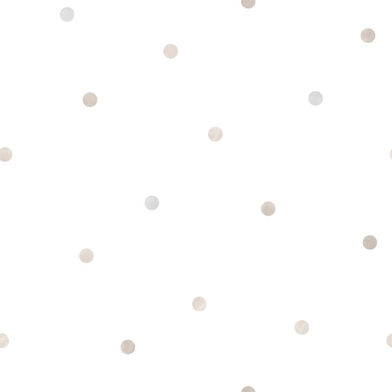 Vliestapete 'Punkte' weiß/hellgrau