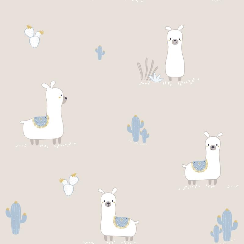 Tapete 'Lamas' beige/jade