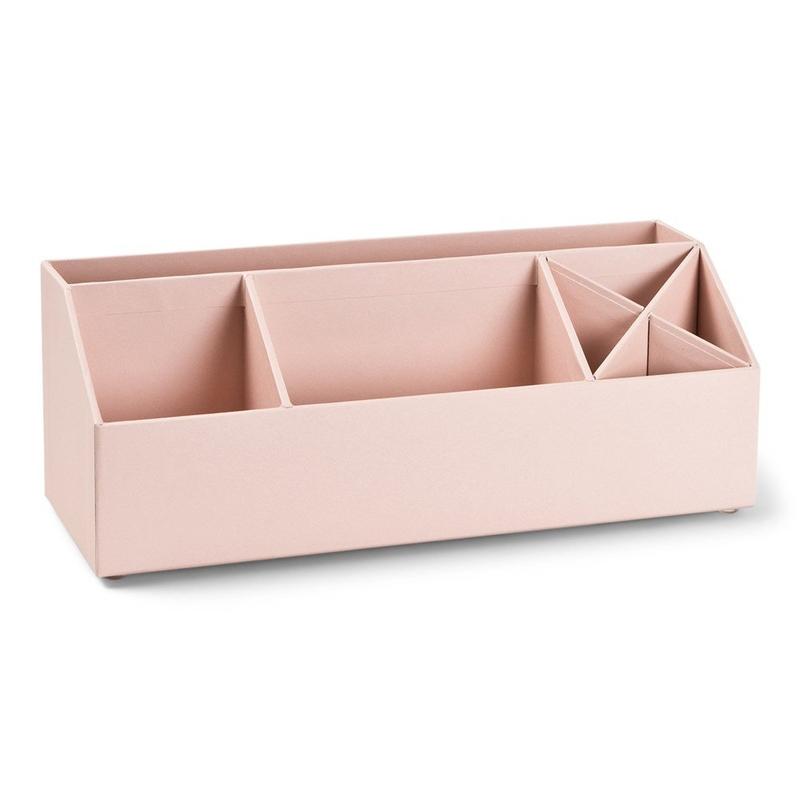 Schreibtisch-Organizer puderrosa 12x33cm