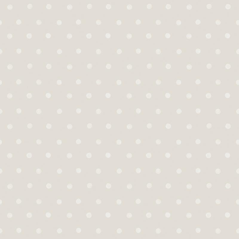 Vliestapete 'Punkte' warmgrau/weiß