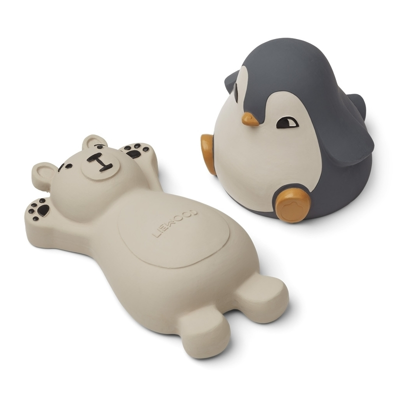 Badespielzeug 'Eisbär & Pinguin' grau/creme