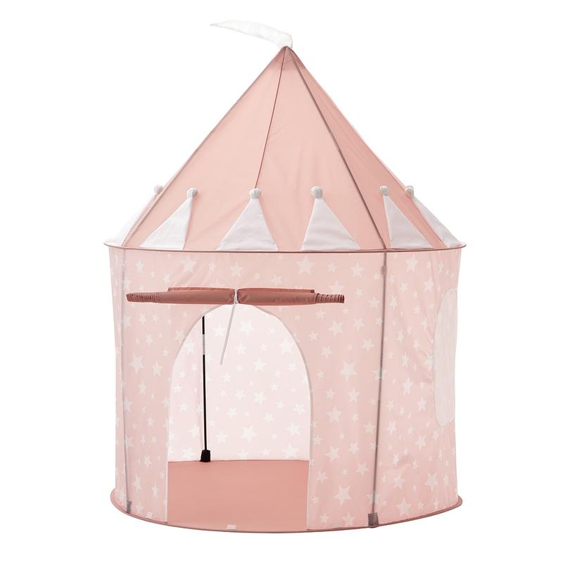 Spielzelt/Spielhaus 'Sterne' rosa 130x100cm