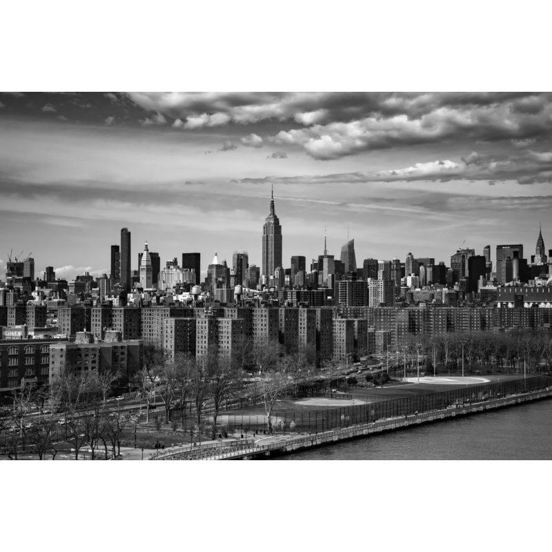 Fototapete 'New York' grau 405x270cm