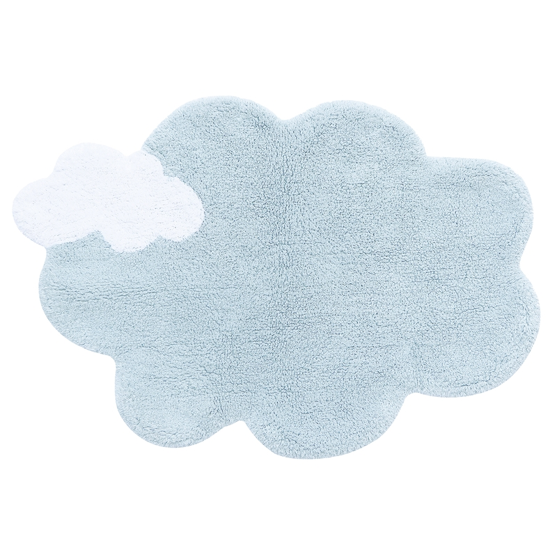 Teppich 'Wolke' hellblau 70x100cm waschbar