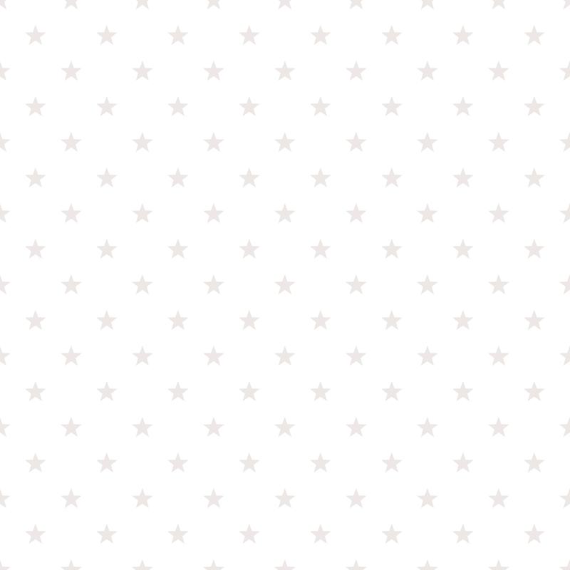 Vliestapete 'Sterne' hellgrau/weiß