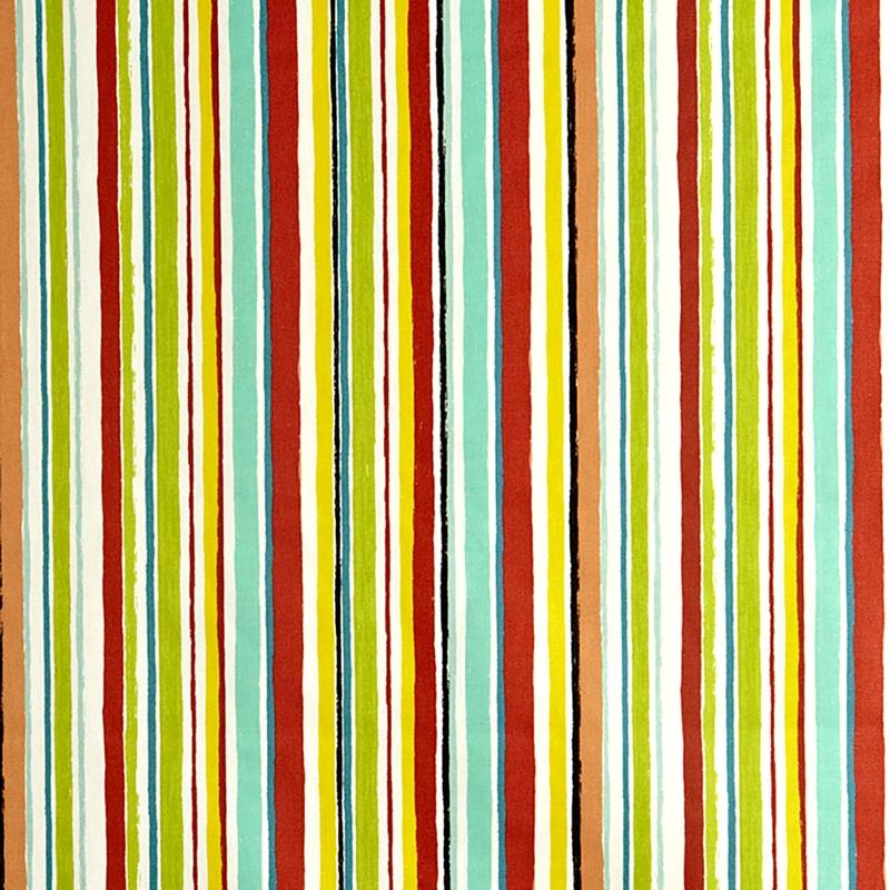 Kinderzimmer Stoff 'Streifen' mint/grün/rot