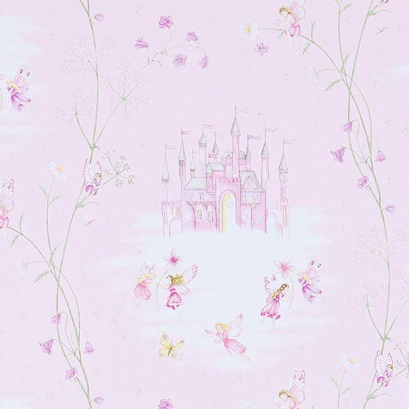 Tapete 'Feenschloss' rosa/pink