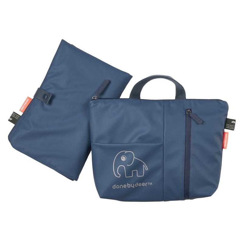 Recycle-Wickeltasche blau 30x25cm