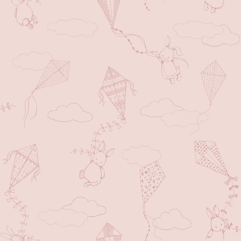 Tapete 'Newbie' Drachen puderrosa
