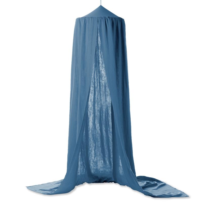 Betthimmel 'Terra' Musselin blau Ø 50cm