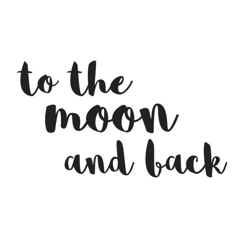 Wandsticker 'To the moon' handgezeichnet