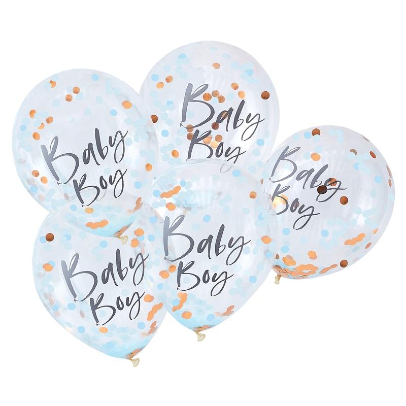 Konfetti-Ballons 'Twinkle' roségold/blau