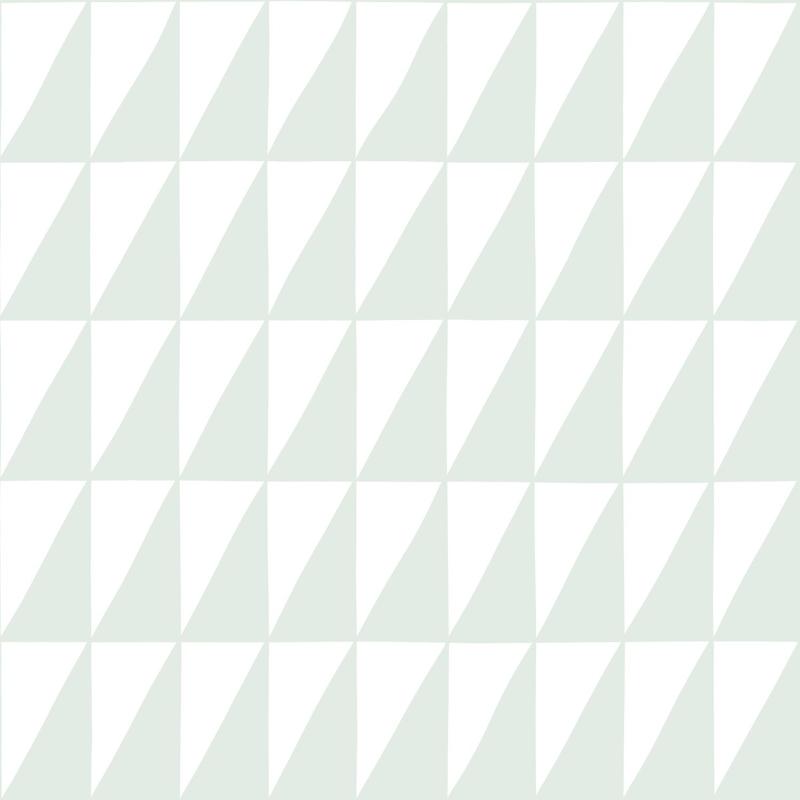 Vliestapete 'Dreiecke' weiß/mint