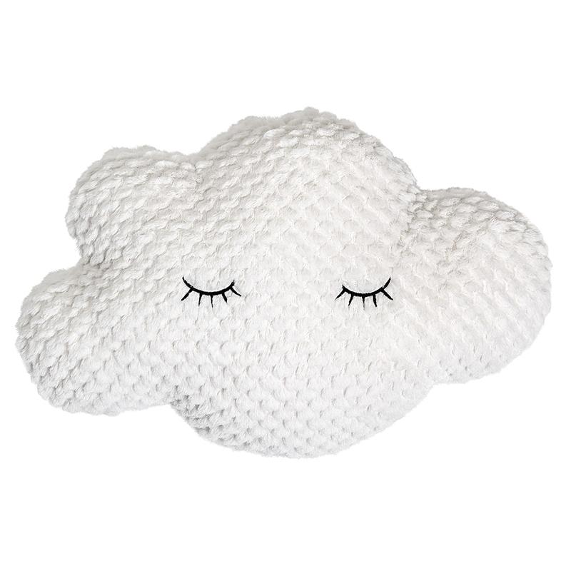 Kissen 'Wolke' Softplüsch cremeweiß 45x30cm