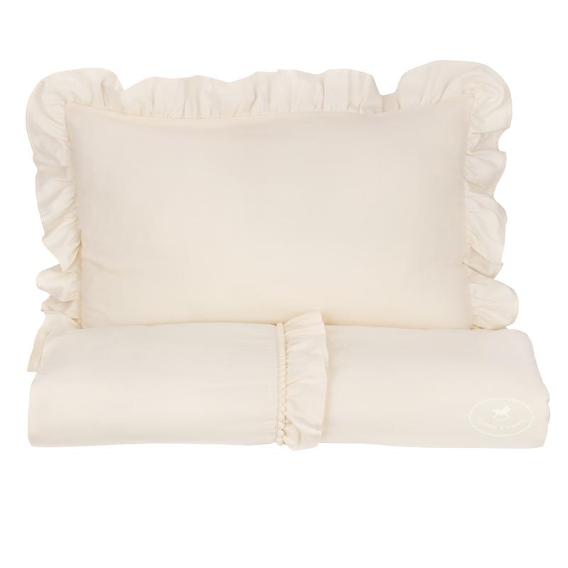 Bettwäsche mit Rüschen 'Boho' creme 100x135cm