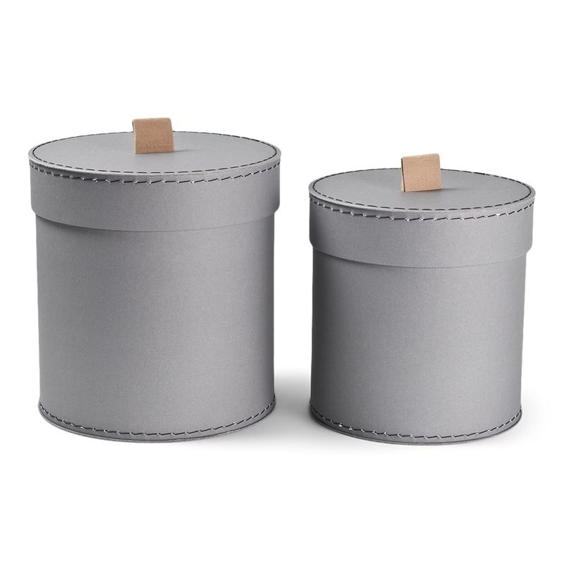 Aufbewahrungsboxen aus Pappe grau