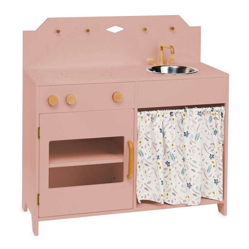 Kinderküche 'Blätter' Holz rosa ab 3 Jahren