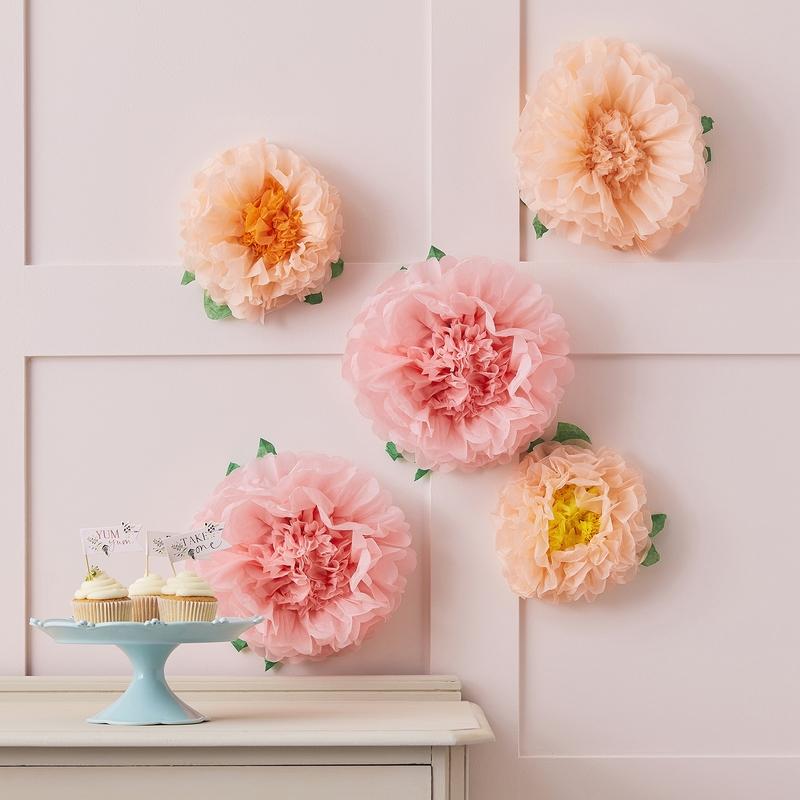 Pompon-Blumen 'Let´s Partea' rosa 5 Stk.