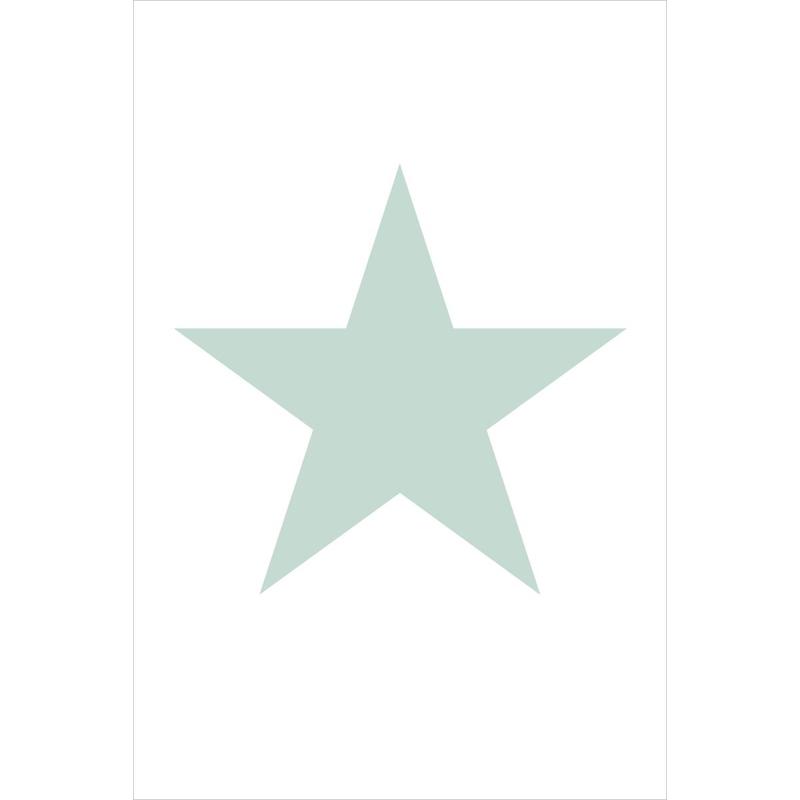 Fototapete 'Stern' mint/weiß 186x279cm