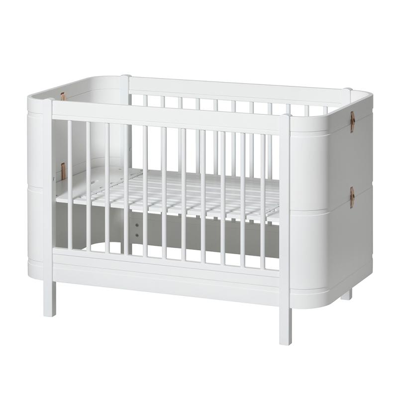 Babybett & Kinderbett 'Mini+' weiß umbaubar