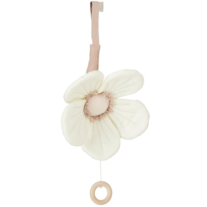 Spieluhr Blume 'Windflower' creme 30cm