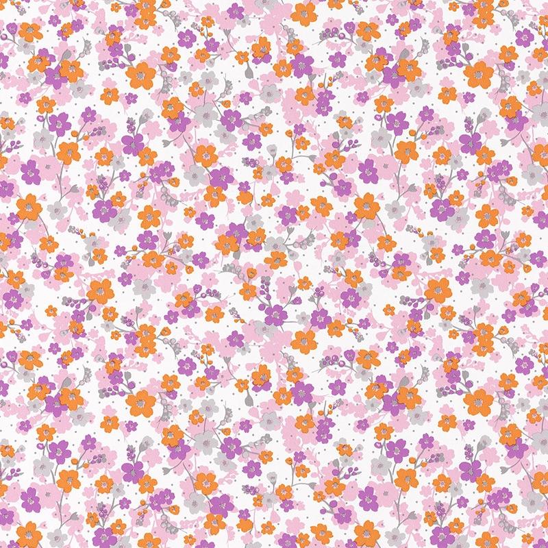 Tapete Blümchen rosa/lila 'Pretty Lili'