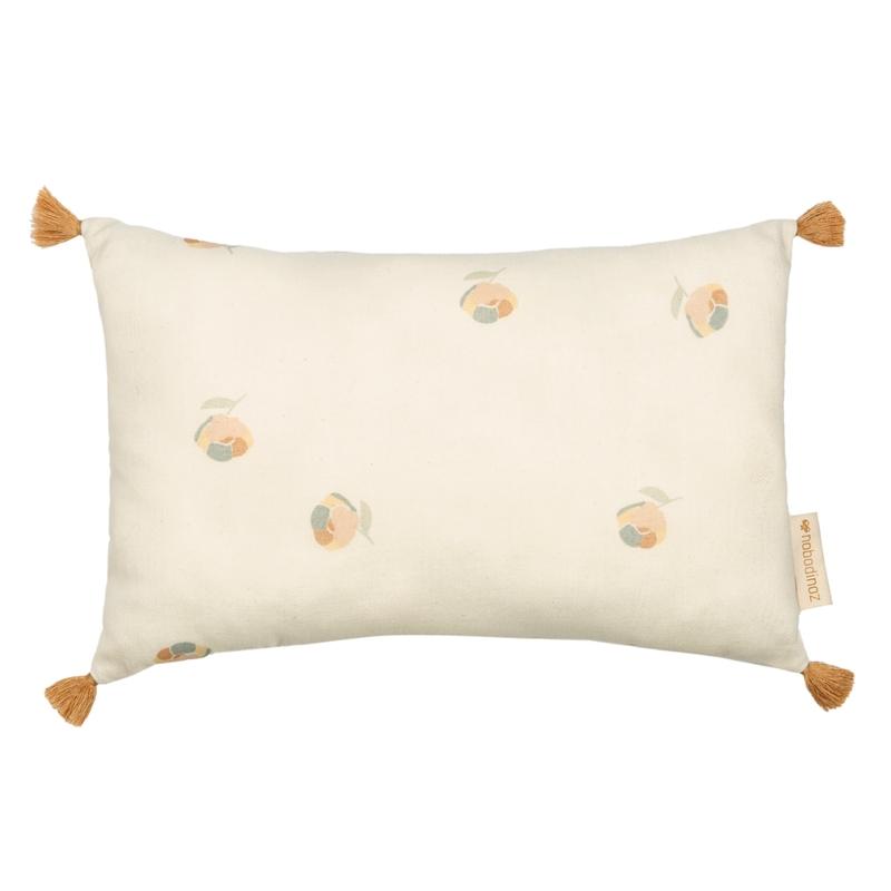 Kissen mit Quasten 'Blossom' creme 35cm