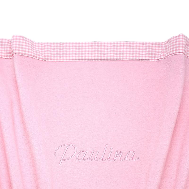 Babydecke rosa 75x100cm personalisiert