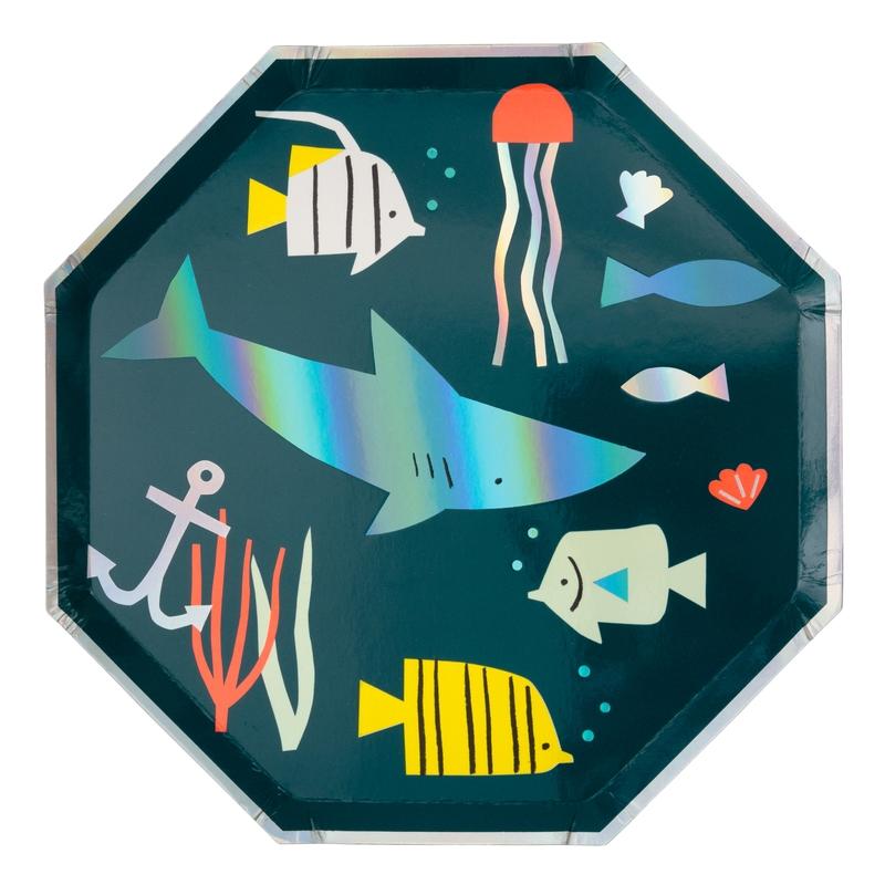 Mini-Pappteller 'Unterwasser' 8 St.