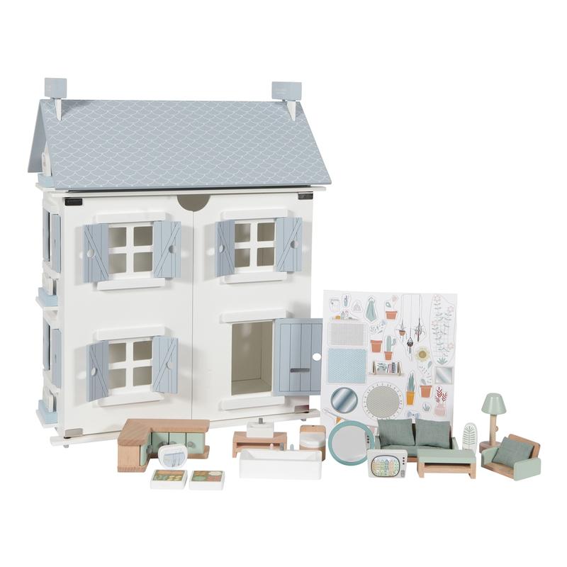 Puppenhaus inkl. Möbel 20-tlg. ab 3 Jahren