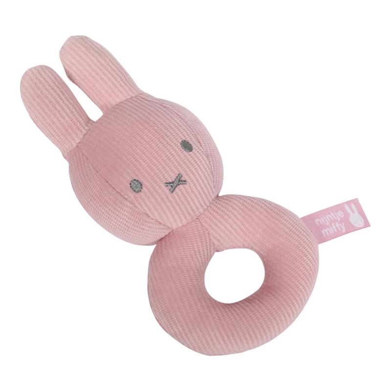 Babyrassel Miffy Hase 'Cord' altrosa 16cm