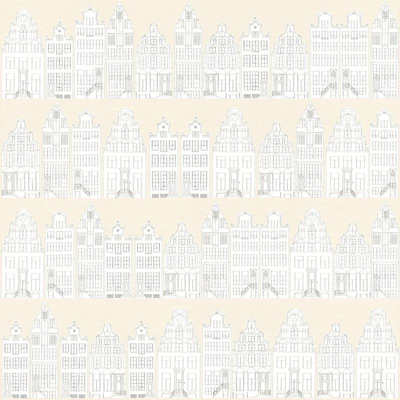 Vliestapete 'Amsterdam' beige/warmweiß