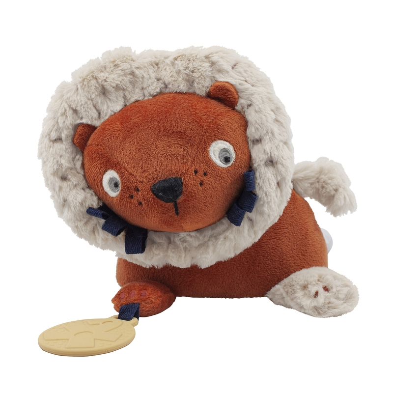 Spieltier 'Löwe' mit Spiegel sorbet orange