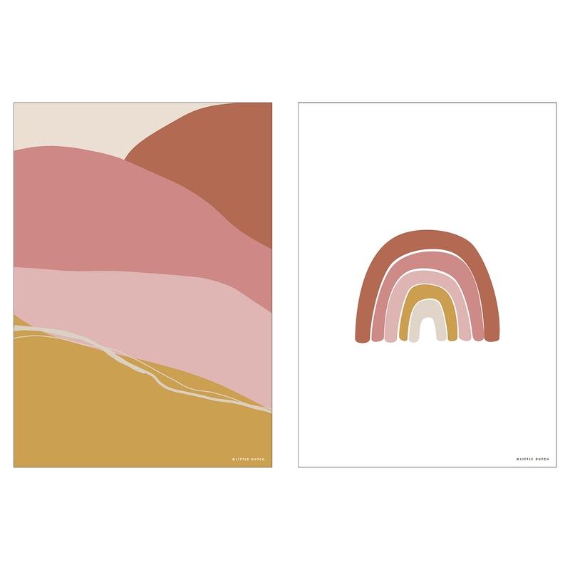 Wendeposter 'Regenbogen' rosa 30x40cm