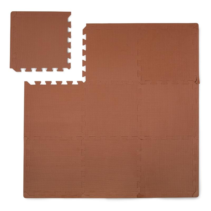 Puzzlematte Schaumstoff rost 100x100cm