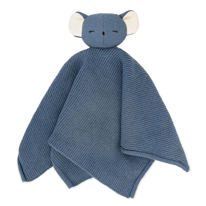 Bio Schnuffeltuch 'Koala Kiki' blau