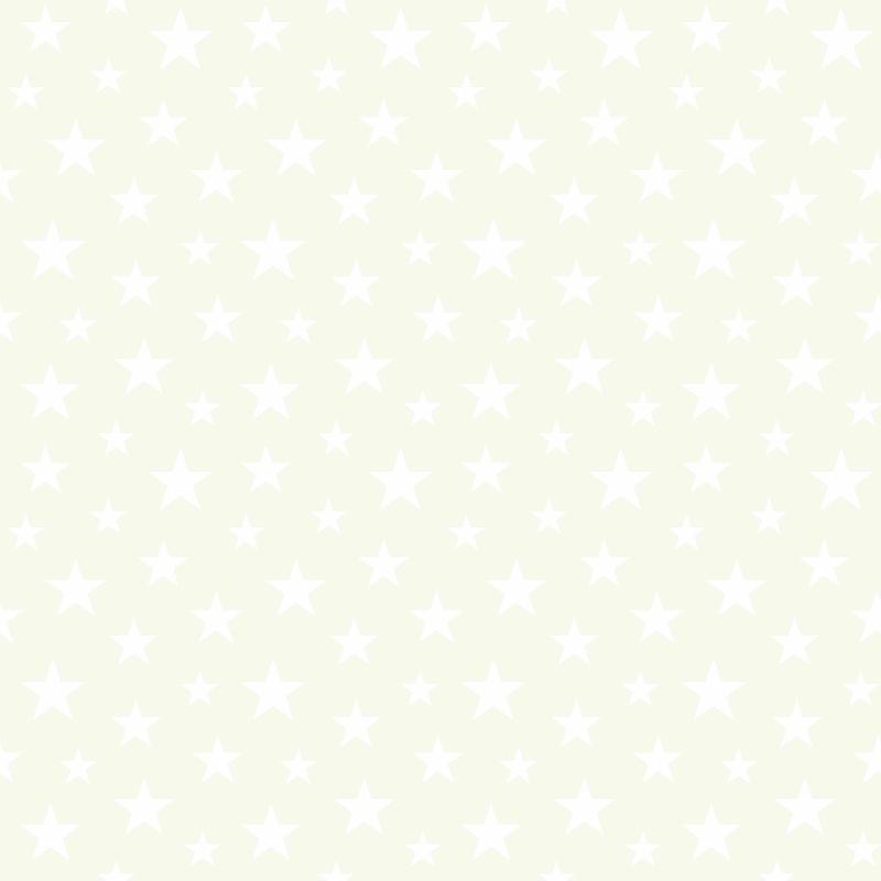 Vliestapete 'Sterne' perlmutt/weiß
