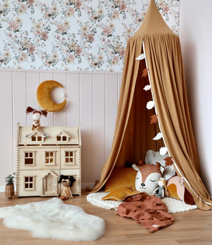 Kuschelecke in Rosa & Camel mit XL Puppenhaus