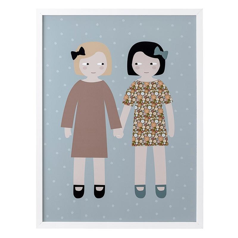 Kinderzimmerbild 'Freundinnen' 32x42cm