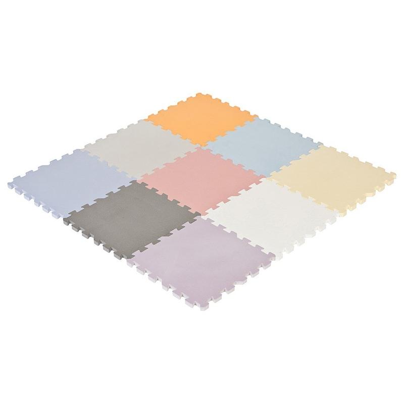 Puzzlematte Schaumstoff Pastell 90x90cm