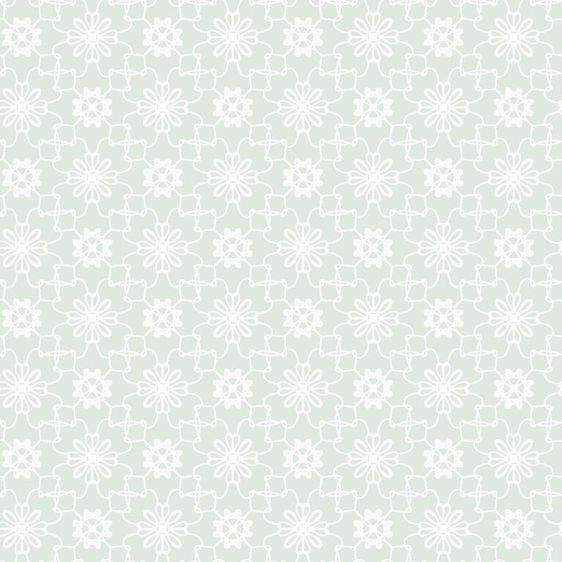 Tapete 'Blumen Mosaik' mint
