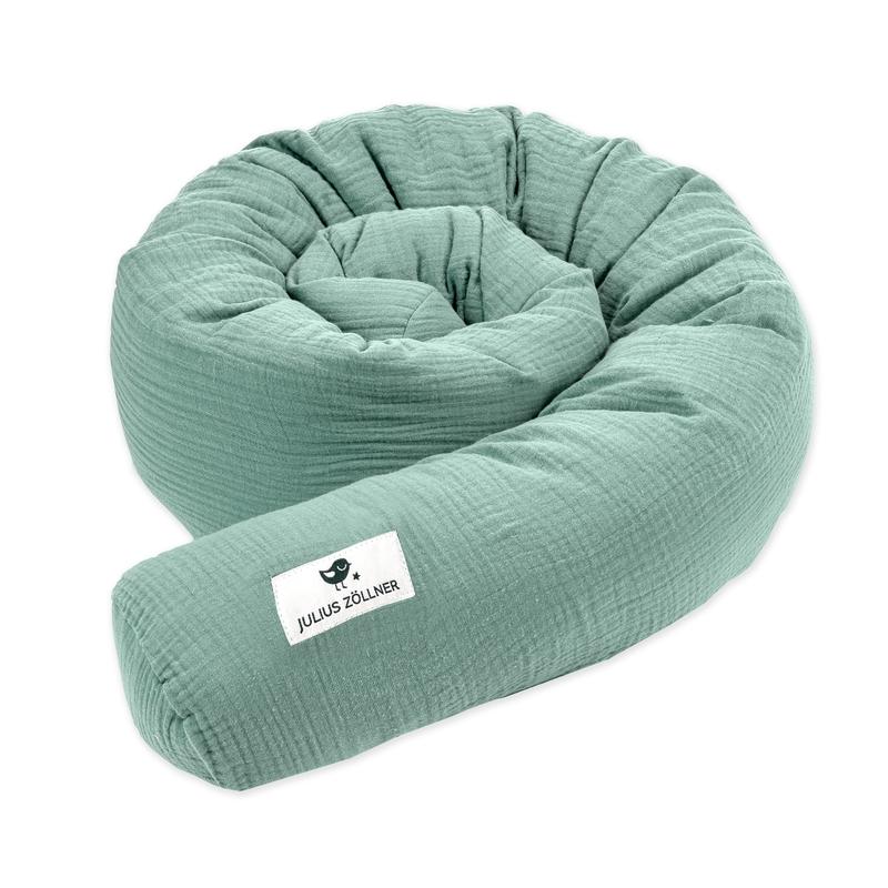 Bettschlange 'Terra' Musselin grün 180cm