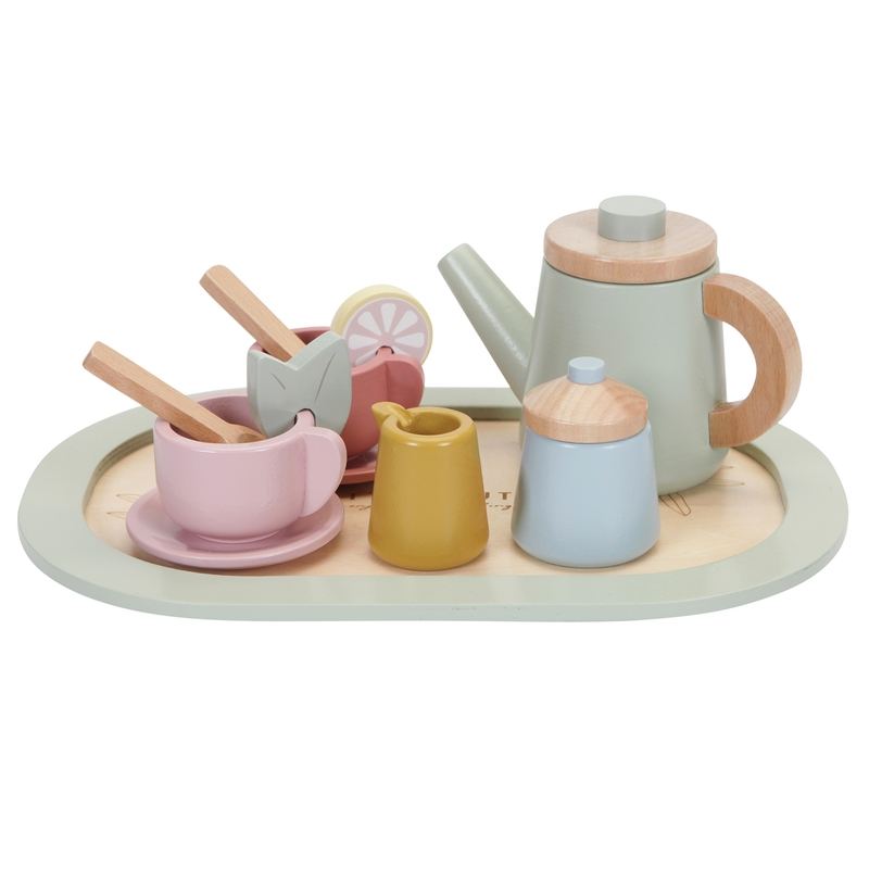 Teeset aus Holz mint/pastell 10-tlg. ab 3 Jahren